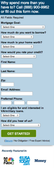 Quicken loans submission form