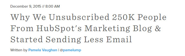 HubSpot Unsubscribed Emails